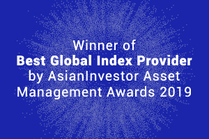 AsianInvestor's Best Global Index Provider Award for 2019