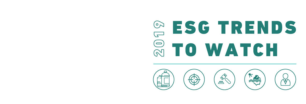 ESG trends to watch<br>in 2019